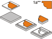 Podklejanie części kartonem lub tekturą
