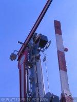 Semafor kratowy dwuramienny, górna część semafora