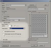 Ustawienia drukowania w Adobe Acrobat 9.0