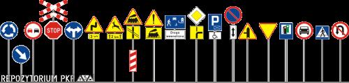Współczesne znaki drogowe - Polska