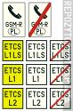 Wskaźniki ETCS wzoru 2014, zgodne z Ie-102.