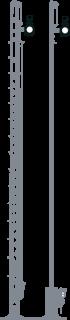 Wskaźnik W3 na słupie semafora kształtowego