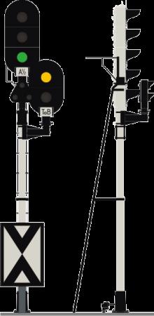 Historyczny sygnalizator świetlny (wykonanie Ericssona)