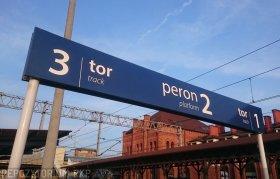 Oznakowanie peronu, Skierniewice