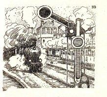 H. Baluschek, ilustracja do Die Geschichte eines Eisenbahnwagens