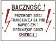 Tablice ostrzegawcze dla linii zelektryfikowanych