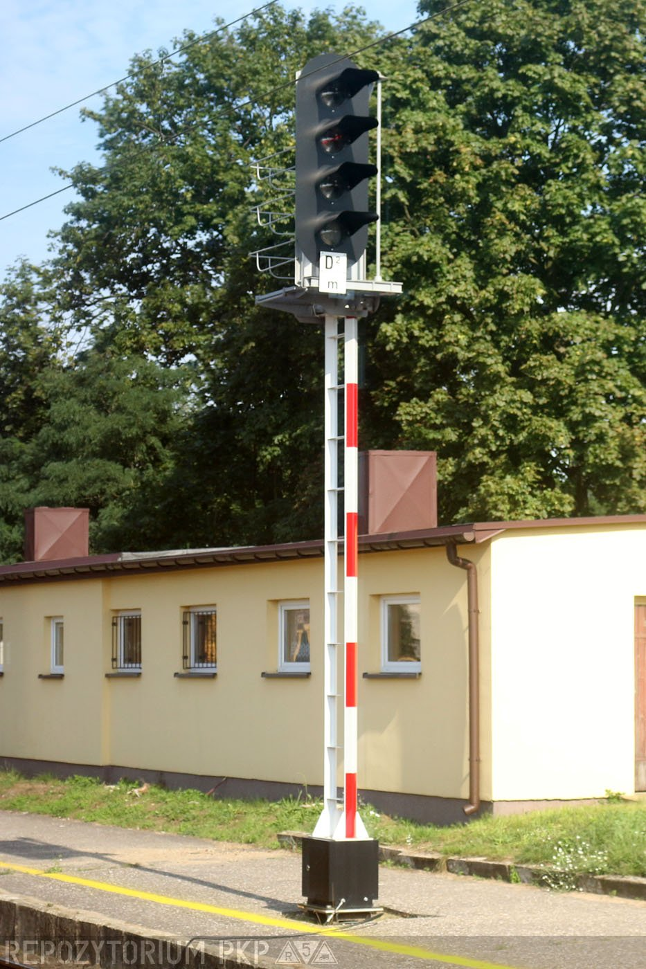 Sygnalizator typu M02, odmiana stała, stacja Domaniewice