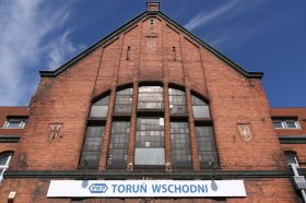 Toruń Wschodni, fasada dworca