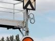 Tarcza ostrzegawcza na pomoście, Wolsztyn