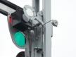Semafor kształtowy wąski - oświetlenie górnej przesłony