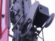 Semafor kratowy dwuramienny, latarnia i przesłona dolnego ramienia