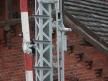 Semafor kratowy dwuramienny, środkowa część słupa semafora