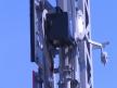 Semafor kratowy dwuramienny, sanki latarniowe i latarnia dolnego ramienia