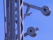 Semafor kratowy dwuramienny, dźwignie wyrównawcze