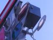 Semafor kratowy dwuramienny, latarnia i przesłona górnego ramienia