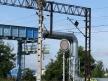 Toruń Wschodni, semafor wjazdowy, stała tarcza ostrzegawcza